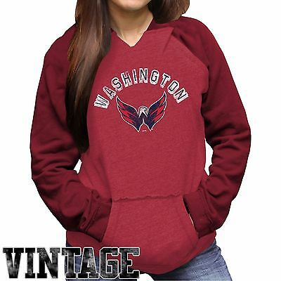 Womens XLarge Washington Capitals Relaxed Pullover Hoodie EB37