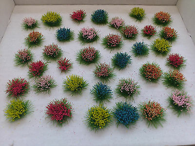 36 Assorted Flowers for Model Railways/Diorama's/Dollhouses/Wargaming