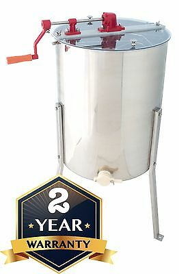 Stainless Steel Honey Extractor Four 4/8 Frame Beekeeping for Langstroth-Dadant