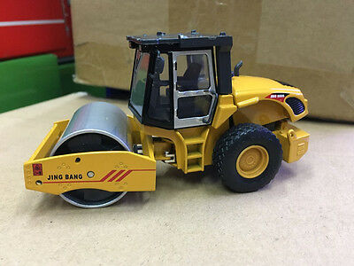 1/50 DieCast Model Single.S.W Road Roller Compactor Yellow Construction vehicles