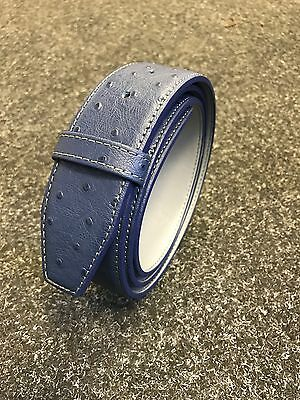 Real Leather SS Tour Ostrich Leather Belt Will Fit Most Buckles New B/G