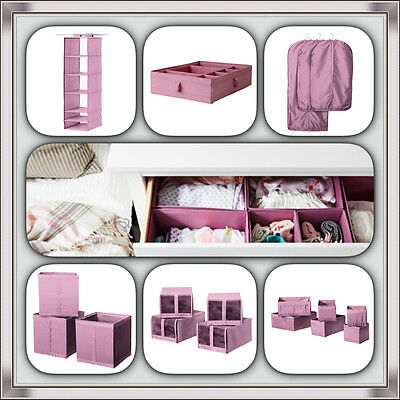 Ikea Skubb Pink shoe box organiser storage boxes wardrobe clothes cover/ New