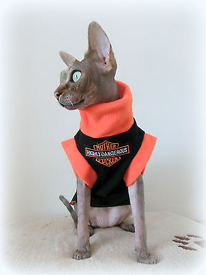slim adult  NAUGHTY Sphynx clothes sweater for a cat Nacktkatze pet clothes