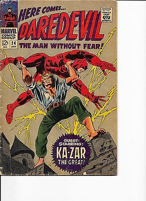 Marvel Comics Daredevil Man Without Fear No 24 Guest Starring Ka-Zar VG?