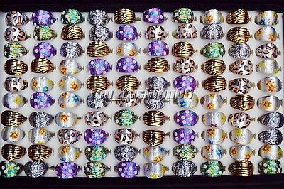 Wholesale lots bulk 20pcs Resin Mix Design Child Kid Cute Rings jewelry FREE