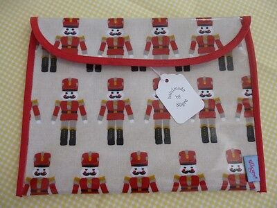 Handmade Oil Cloth Baby Health Red Record Book Holder/Cover - Fully Lined - BNWT