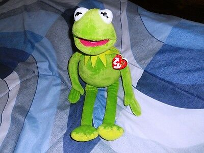 NEW Ty Kermit the Frog Beanie Buddy NWT Large Size 16 Inches