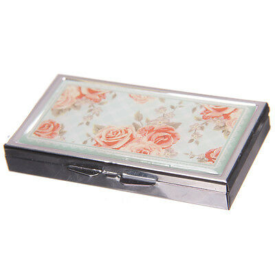 Handy 7 Days Metal Pill Box - Chintz Flower Design - New and Sealed