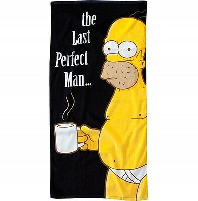 Die Simpsons Badetuch beach towel The Last Perfect Man Homer Strandtuch Handtuch