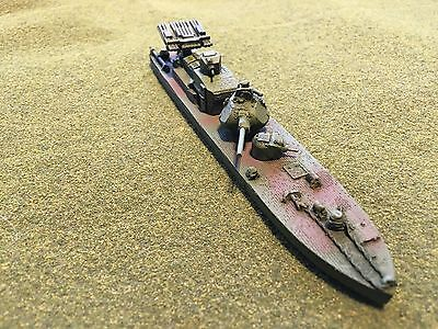 1/100th (15mm) WWII Russian Painted BK1125/76 Armored Riverboat Mfid:R44ck