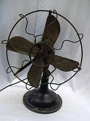 Antique Fan Marelli Made In Italy Ocilliating Vintage Electric Table Fan Genuine