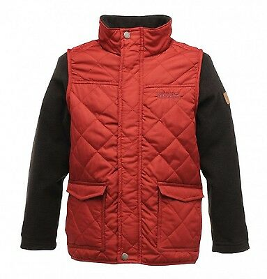 Regatta Jiminy Boys Girls Quilted Country Style Bodywarmer Jacket Age 7-8 years