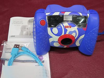 Fisher-Price Working Kid Tough Blue Digital Camera w. USB Cable
