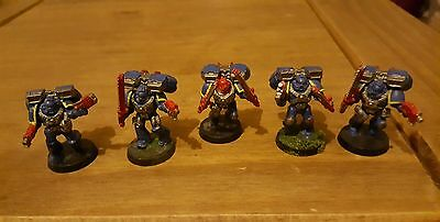 Warhammer 40k space marine Assault troops with jump packs x5 army joblot