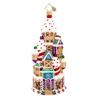 Christopher Radko - Candy Chateau - Gingerbread Castle- Retired Ornament 1017194