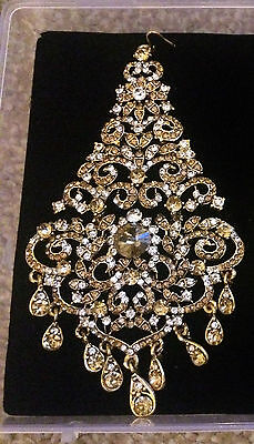 A large  1 regal jhoomar jhumar ladies jewellery indian gold silver head matta