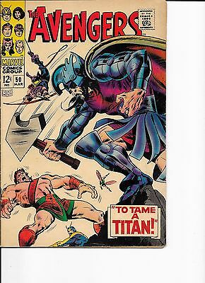Marvel Comics The Avengers Issue No 50 To Tame A Titan FN?