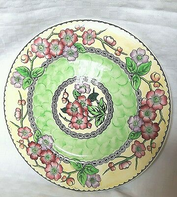 "Large 11"" Maling 1930's Decorative Handpainted Plate - May Blossom"