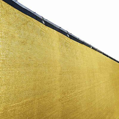 ALEKO Privacy Screen Shade Cover With Grommets 6 x 25 Ft Fence Sand Color
