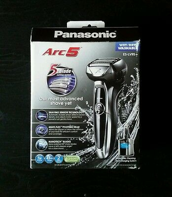 NEW Panasonic ES-LV95-S Arc5 Electric Cordless Shaver + Clean/Charge Station