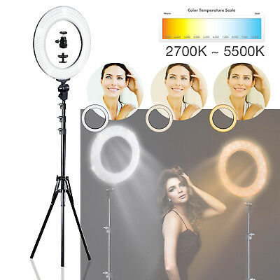 """12"""" 45W 5500K Dimmable Ring Continuous Light Portrait Photo Video Studio"""