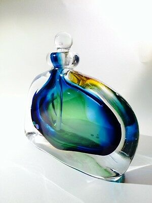 Studio Art Glass Scent Bottle By Chris Comins. Signed