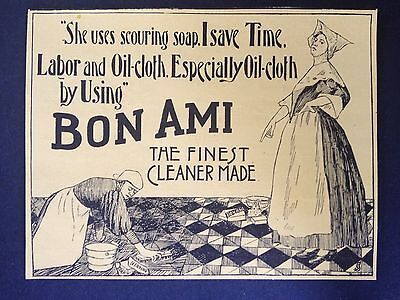 """Antique 1896 Ad (1800-7)~Bon Ami """"the Finest Cleaner Made"""""""