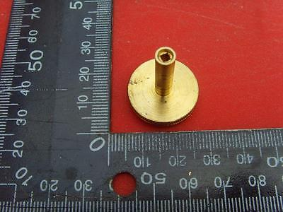 12/3 15059#21  Quality knurled  brass clock foot or barometer setting knob