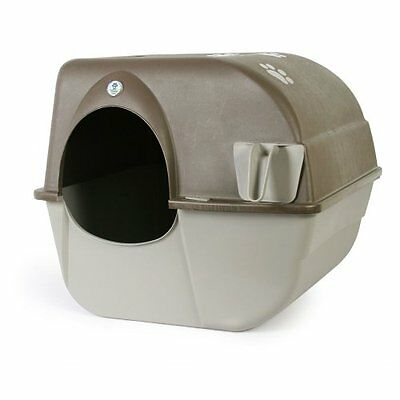 Omega Paw Self-Cleaning Litter Box, Pewter Large