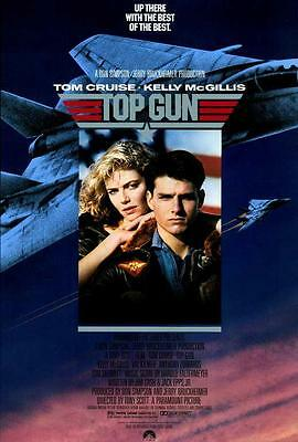 Top Gun Movie POSTER 27 x 40 Tom Cruise, Kelly McGillis, A, LICENSED, NEW