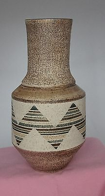Troika Pottery URN  VASE  -  Decorated by Jane FitzGerald   -  Special Delivery