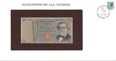 Banknotes of All Nations, Italy 1000 Lire, 1980, P101, Uncirculated