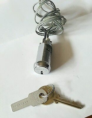 MEDECO 65 SERIES ROTARY SWITCH LOCK w/ KEY & SERIAL NUMBER BLANK, WORKS GREAT