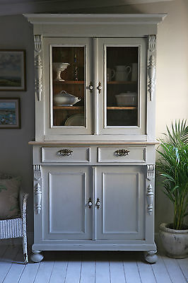 Antique French Pine Shabby Chic Glazed Dresser Painted in Autentico Chalk Paint