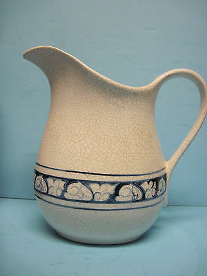 Vintage Dedham Pottery Pitcher 9 1/2 Inches Tall