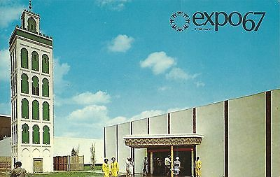 Vintage Postcard EXPO 67 General View of the Moroccan Pavilion & the Minaret