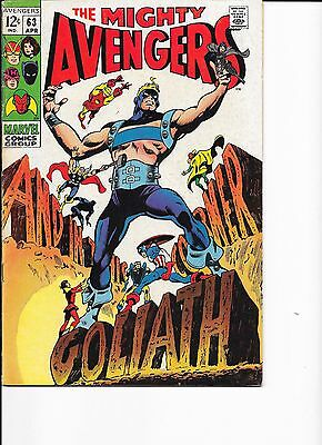 Marvel Comics The Avengers Issue 63 FN? Cents Copy Goliath