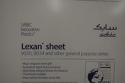 "LEXAN SHEET  POLYCARBONATE CLEAR .093"" x 48"" x 96"""