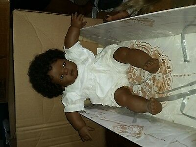 Annette Himstedt Mo Doll - 1990/91 Barefoot Babies Collection - *Damaged Box*
