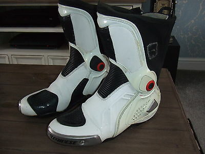 Dainese Torque D1 In (leathers go over boots)  Motorcycle Race Boots uk 6.5