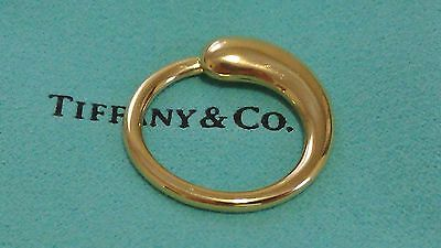 Authentic Tiffany & Co. 18K Yellow Gold Peretti Eternal Circle Key Ring