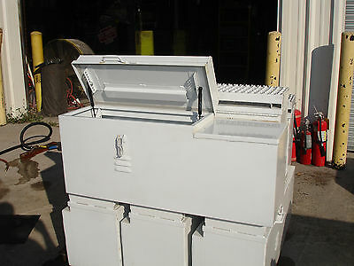 "36"" Custom Steel Job Truck Tool Storage Box w/Step 36""L x 12""W x 13""D"