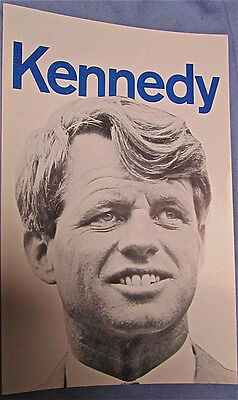 Robert Kennedy  RFK  Original 1968 election campaign photo poster NEW  PRICE!