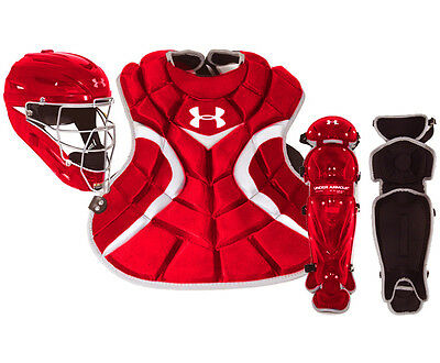 Under Armour Youth 7-9 Victory Series Catcher's Gear Set UACK-YVS - Red