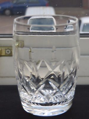Stuart Crystal Cut Glass Barrel Tumbler With 'carlingford' Pattern- Signed