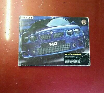MGZT MG ZT Owners Manual And Service Record