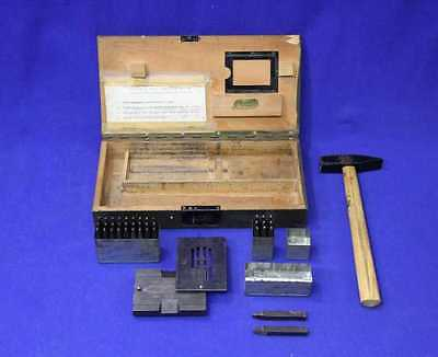 Original Military Dog Tag Embossing Manual Machine German Army Erkennungsmarke