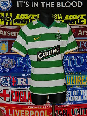 4/5 Celtic adults L 2008 player issue football shirt jersey trikot