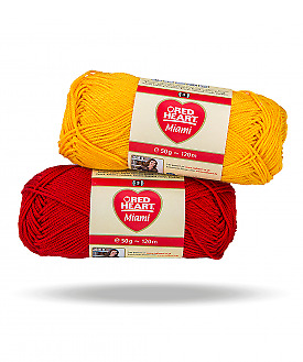 Red Heart Miami 100% cotton yarn - 50g - many colours