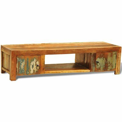 # Reclaimed Recycled Wood TV Stand Cabinet Rustic Entertainment Unit Storage Doo